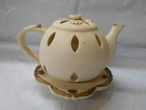 Beautiful Decorative Tea Pot & Saucer Candle Holder in The Woodlands, Texas