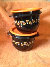 Two Candy Corn Tupperware containers in Houston, Texas