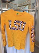 ***Ladies L/S Gold LSU Shirt***SZ Small in Houston, Texas