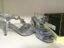 Ladies Silver Leopard Print Heels size 8 in Fort Leonard Wood, Missouri