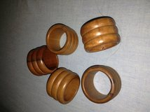 5 Wooden Napkin Rings in Aurora, Illinois