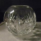 Round, Cut Glass Candle Holder/Vase - Very Nice in Batavia, Illinois