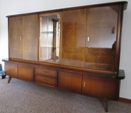 Mid Century Highboard Entertainment Center with Bar in Ramstein, Germany