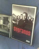 Sopranos official HBO lic poster in Conroe, Texas