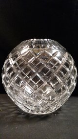 Bombay Poland 24% Lead Crystal Rose Bowl Diamond Pattern Hand Cut Glass Elegant in Fort Campbell, Kentucky