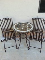 REDUCED! Stone / Metal Table & Chairs in Cleveland, Texas