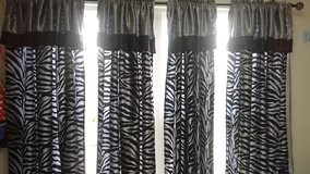 zebra bed set and curtains in Aurora, Illinois