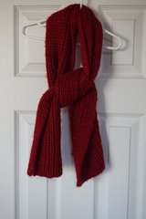 Dark Red Knitted Scarf in Naperville, Illinois