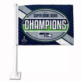 "*** SEATTLE SEAHAWKS ""Super Bowl XLVIII Champions"" Car Flag *** NEW in Fort Lewis, Washington"