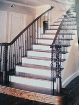 Curved Stairs Built by Bill in Conroe, Texas