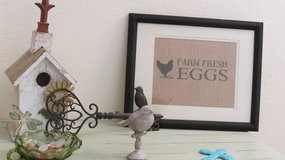 Farm Fresh Eggs 8X10 burlap print in Houston, Texas
