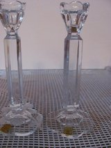 HAND CUT CRYSTAL CANDLE HOLDERS (PAIR) in Kingwood, Texas
