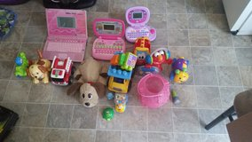 box of baby toys in Madisonville, Kentucky