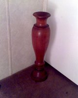 Solid Teak 3ft Floor Vase in Conroe, Texas