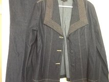Metrostyle Dark Jean Suit Size 14 in Ramstein, Germany