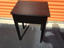 Walnut Primitive Painted Side Table in Cherry Point, North Carolina