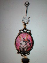bunny cameo belly ring in Camp Lejeune, North Carolina