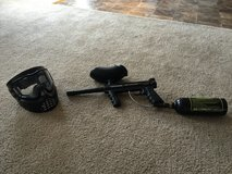 Tippmann paintball gun and mask and tank in Perry, Georgia