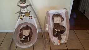 Fisher Price Snug monkey rocker and swing in Bolling AFB, DC