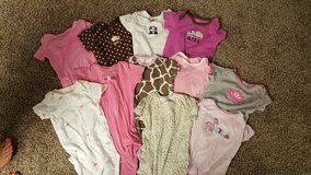 Lot of 11-9 mo. Girl onsies in Plainfield, Illinois