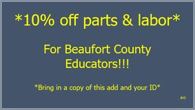 10% OFF! in Beaufort, South Carolina