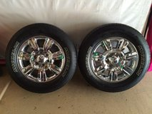 (2) 2011 ford f150 chrome clad wheels and tires. REDUCED! in Kingwood, Texas