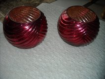 Red decorative bowls in Ramstein, Germany