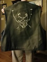 Leather vest with sculls in Fort Campbell, Kentucky