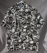 Men's Skull Shirt by Sapphire Lounge Size S 34/36 in Lawton, Oklahoma