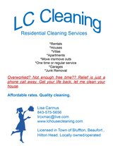 Homes to clean, {refer to add} in Beaufort, South Carolina