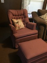 Price reduced Rocking swivel chair and ottoman in Houston, Texas