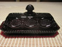 AVON RUBY RED VINTAGE BUTTER DISH WITH LID 1876 CAPE COD PATTERN in Kingwood, Texas