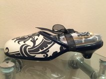 Brownlow Gifts Blue & White Floral Soul Mate Ceramic Shoe w/ Notepad & Pen in Lockport, Illinois