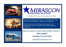 MIRASCON LOW COST AUTO AND MOTORCYCLE INSURANCE!!! in Ramstein, Germany