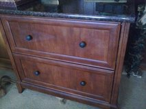 File Cabinet, 2 drawers Marble top in Quad Cities, Iowa