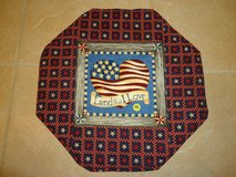 "New 17"" Handmade Patriotic Table Topper/Mat 1 in Warner Robins, Georgia"