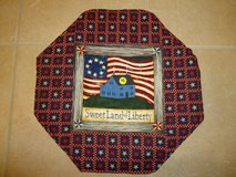 "New 17"" Handmade Patriotic Table Topper/Mat 2 in Warner Robins, Georgia"