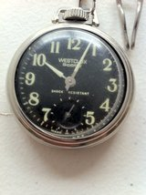 Westclox Scotty original pocket watch with chain. (Working) in Baumholder, GE