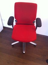 Office chair red Brand Comforto in Ramstein, Germany