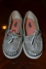 Bongo Metallic Silver Sperry Style Boat Shoes Slip-ons sz 4/ladies 6 in Camp Lejeune, North Carolina