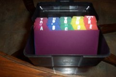 Index card holder in Conroe, Texas