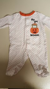 Halloween one pc pajama 3 mo. in Plainfield, Illinois