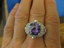 NEW Sterling Silver Ring with Amethyst and Zirkons size 8 in Stuttgart, GE