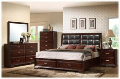 NEW QUEEN BED SET WITH MATTRESS $849 in San Bernardino, California