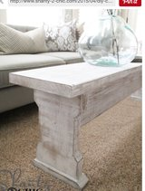 Wood coffee table bench in Camp Lejeune, North Carolina