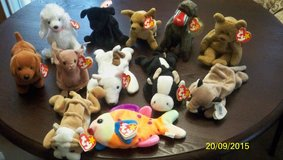 TY Beanie Babies   collection of 11 Retired some with Errors in Fairfield, California