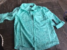 NWT  girl 's 14-16 teal blouse with stars in Chicago, Illinois