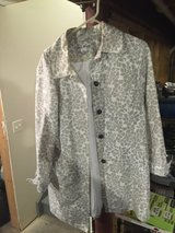 Eddie Bauer trench jacket size large in Naperville, Illinois