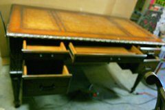 VINTAGE DESK with INLAY of Leather & Gold Trim in Fort Polk, Louisiana