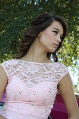 PINK LACE FORMAL PROM DRESS SIZE 1/3 in Fort Polk, Louisiana